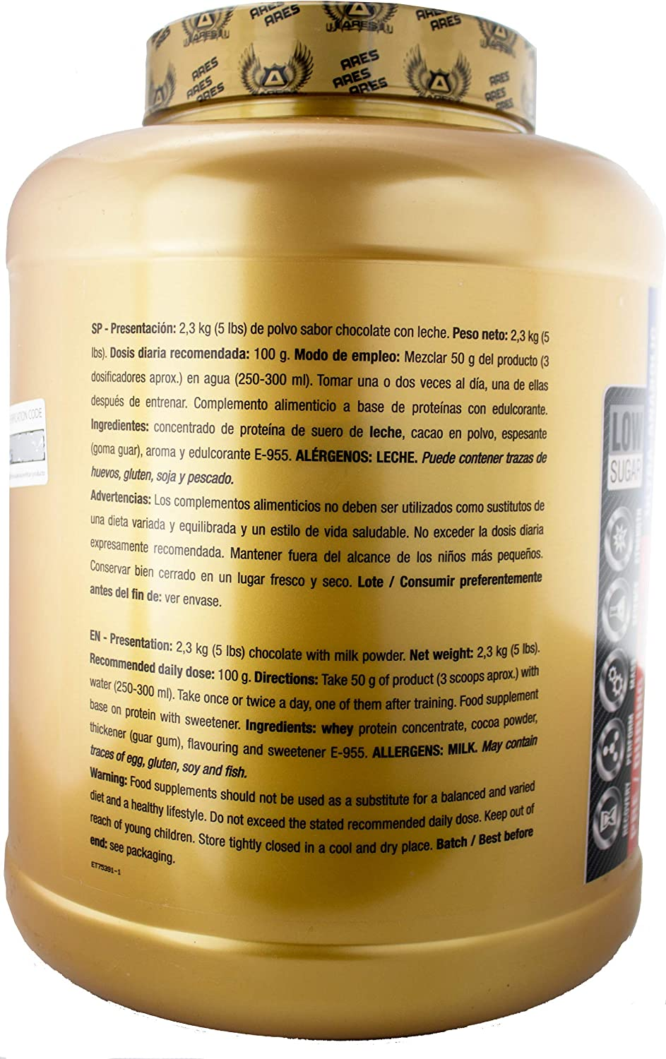 PROTEINA WHEY ULTRA | ARES - 2,3 kg - SUPERIOR ALL-IN-ONE WHEY PROTEIN (Vainilla Cookies)