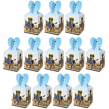 Qemsele Cajas De Fiesta Bolsas de cumpleaños, 12Pcs Regalo Cajas, Cajas de Caramelo Tema Reutilizable Bolsas de Fiesta Bolsas para cumpleaños niños la ...
