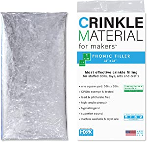 Crinkle Paper Plastic Film | 1 Sq Yard - Commercial Grade Crinkle - Add Texture & Noise to Toys | Noise Making Crinkle Crinkle Paper, Crinkle Paper for Baby Toys, Crinkle Sound for Toys, Safe for