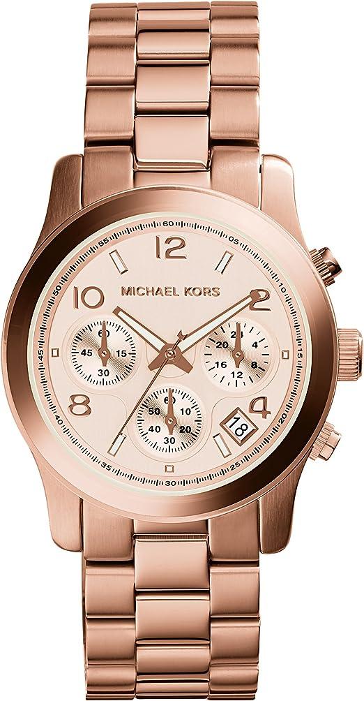 Michael Kors Watch Women's Rose Gold Plated Stainless Steel Bracelet MK5128