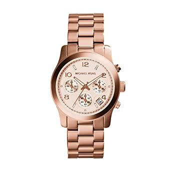 65fec4a1461a Amazon.com  Michael Kors Watch Women s Rose Gold Plated Stainless ...