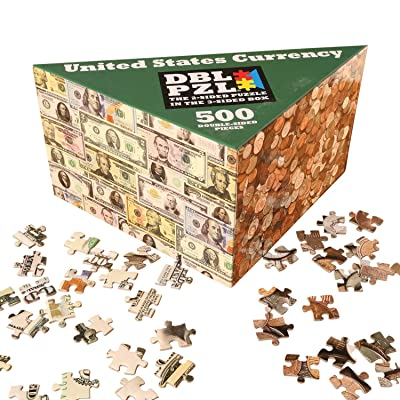 Pigment and Hue US Currency Two-Sided Puzzle - Paper Money and Coins: Toys & Games