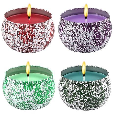 Amazon.com: yosicil velas perfumadas Set de regalo, jazmín ...