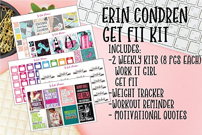 Amazon Com Get Fit Mega Kit Planner Stickers Fitness Workout Deluxe