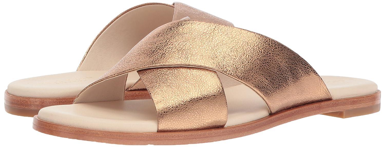 Cole Haan Women's Anica Criss Cross Slide Sandal B06Y695PGG 8.5 B(M) US|Gold Glitter