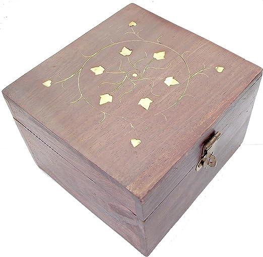 Caja de almacenaje e instrucciones para hacer de madera tallada ...