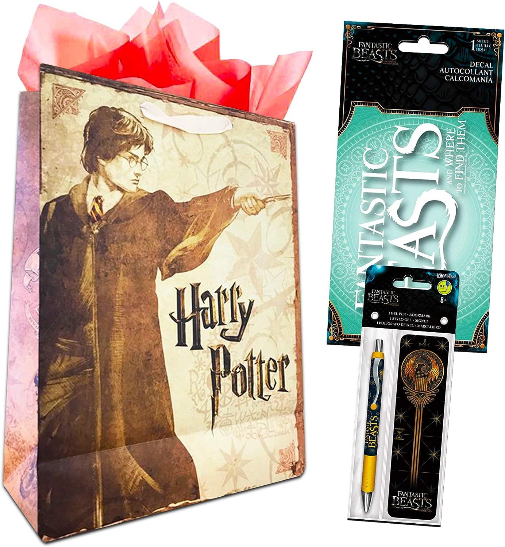 Bookmark and Pen with Bonus Harry Potter Gift Bag Fantastic Beasts Decorations Fantastic Beasts Bookmark Decal Set ~ Fantastic Beasts Decal