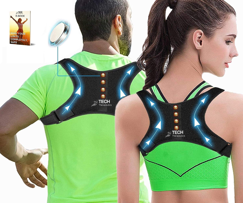 Soulagement des douleurs au cou Correcteur de posture Support dorsal ajustable correcteur de posture au haut du dos et aux /épaules 37-49 au dos Back Straightener pour femmes et hommes