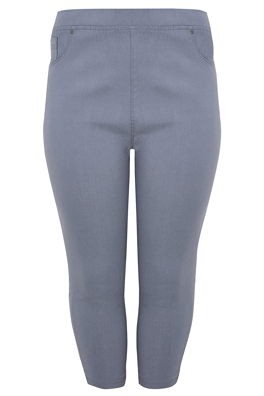 8d659b4eca5 Yours Clothing Women s Plus Size Bengaline Cropped Pull On Trousers   Amazon.co.uk  Clothing