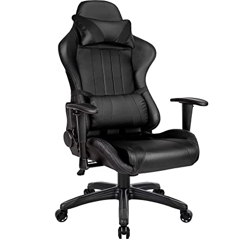 TecTake Silla de oficina ergonomica racing gaming con soporte lumbar - disponible en diferentes colores - (negro | no. 402229): Amazon.es: Hogar