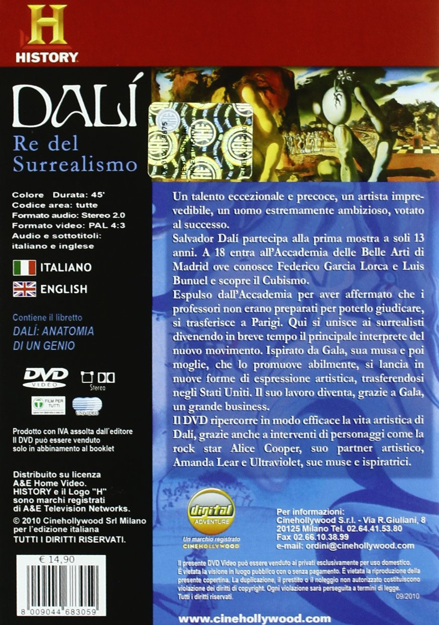 Amazon.com: Dali - The King of Surrealism [ NON-USA FORMAT, PAL, Reg ...