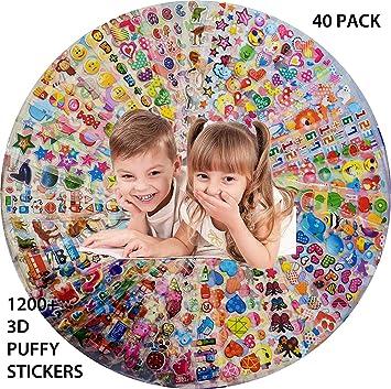 Amazon.com: VEWOCK pegatinas para niños, 40 hojas sin ...