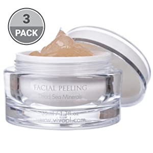 Vivo Per Lei Facial Peeling Gel - Face Peel Containing Dead Sea Minerals And Nut Shell Powder - Face Scrubs For A Flawless Skin - Get Your Mojo Skin With This Face Peeling Gel - (Pack of 3)