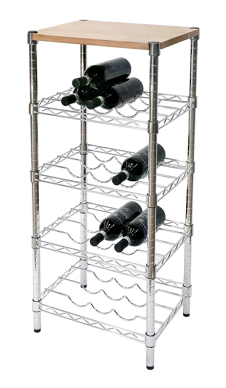 ARCHIMEDE Cantinetta vino portabottiglie, XBW3545 in acciaio cromato, larghezza 45 cm arredamento