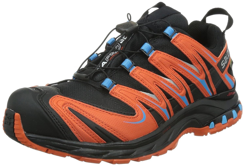 [サロモン] SALOMON トレッキングシューズ XA PRO 3D ゴアテックス 防水 登山靴 B010I04Z6Q 25.5 cm ブラック/トマトレッド/ブルーライン