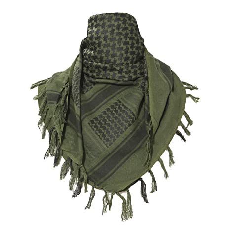 TACVASEN Women Cotton Military Tactical Desert Keffiyeh Scarf Wrap Army  Green ea9c51d20