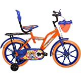 Ollmii™ Bikes 16 inch (Orange) Unisex Kids Cycle for 4 to 6 Years