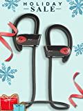 Bluephonic Bluetooth Wireless Headphones   DeepBassX Beats HD Stereo Sound   IPX7 Sweat & Water Proof Fit In Ear Workout Sport Earbuds   Noise Cancelling Running Earphones   Built In Mic   Play 8 hr