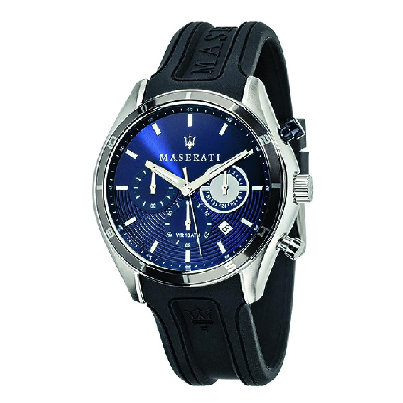 Uhr Chronograph Silikon Quarz Armband Mit Maserati Herren v0OymNw8n