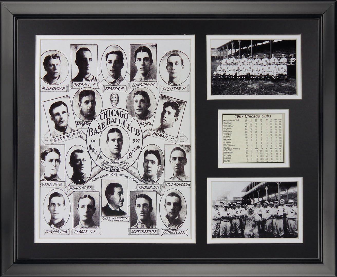 16 x 20 Legends Never Die 1907 Chicago Cubs Framed Photo Collage