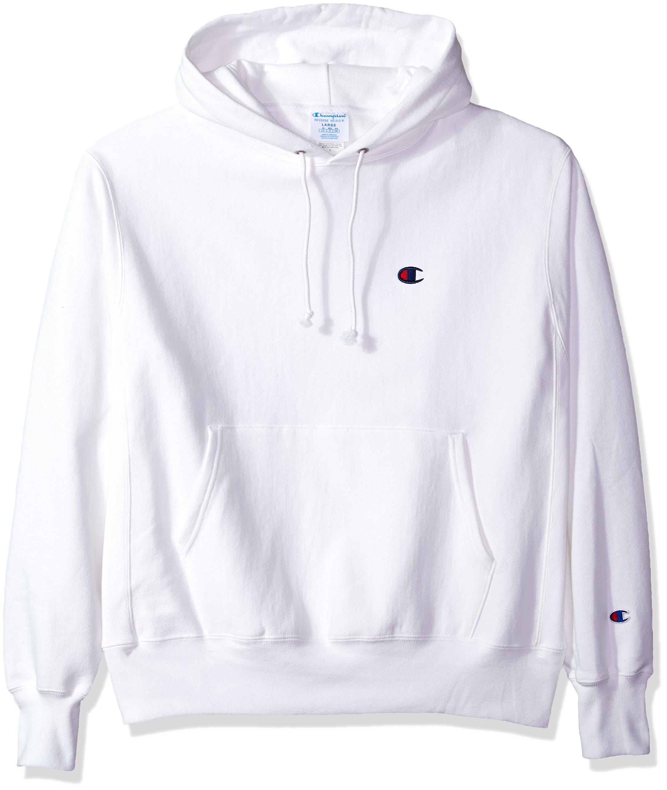 09e0a808 Galleon - Champion LIFE Men's Reverse Weave Pullover Hoodie, White/Left  Chest C Logo, Medium