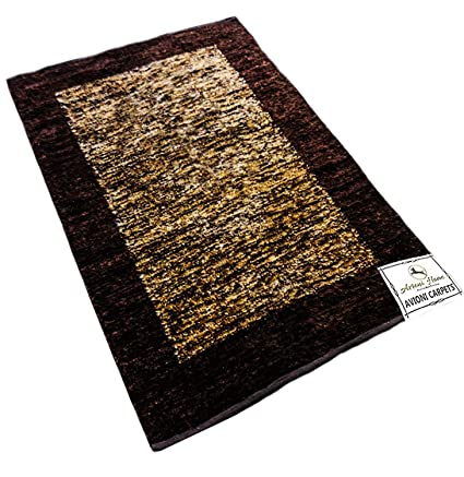Avioni Feather Touch Reversible Rugs - 122 cm x 183 cm (4 x 6 feet)(Brown)