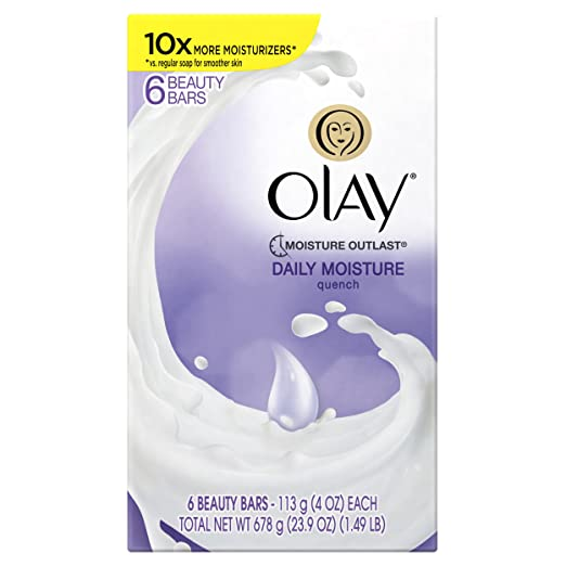 Olay Quench Beauty Bar, 4.0 Ounce, 6 count, Packaging May Vary