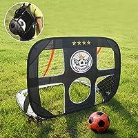 WISHOME 4FT Pop Up Kids Soccer Goal and Ball Set Goal Net for Backyard Portable Football Net Garden Game Outdoor Kids…