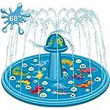 حصيرة الرش للأطفال من توبيب، 177.8 سم ألعاب وسادة مياه خارجية للأطفال الأولاد والبنات والأطفال