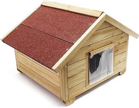 WilTec Caseta pequeña para Gatos casa hogar Impermeable Aislado ...
