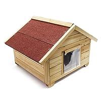 Casetta per gatto ben isolata, in legno, per esterno
