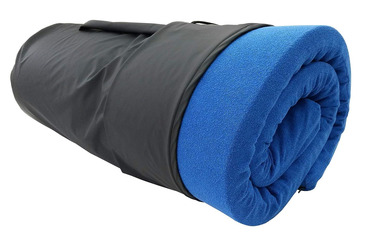 Biona Reise-Matratzenauflage; 6 cm Viscoschaum und Matchsack schwarz (CoolAndDry, weiss)