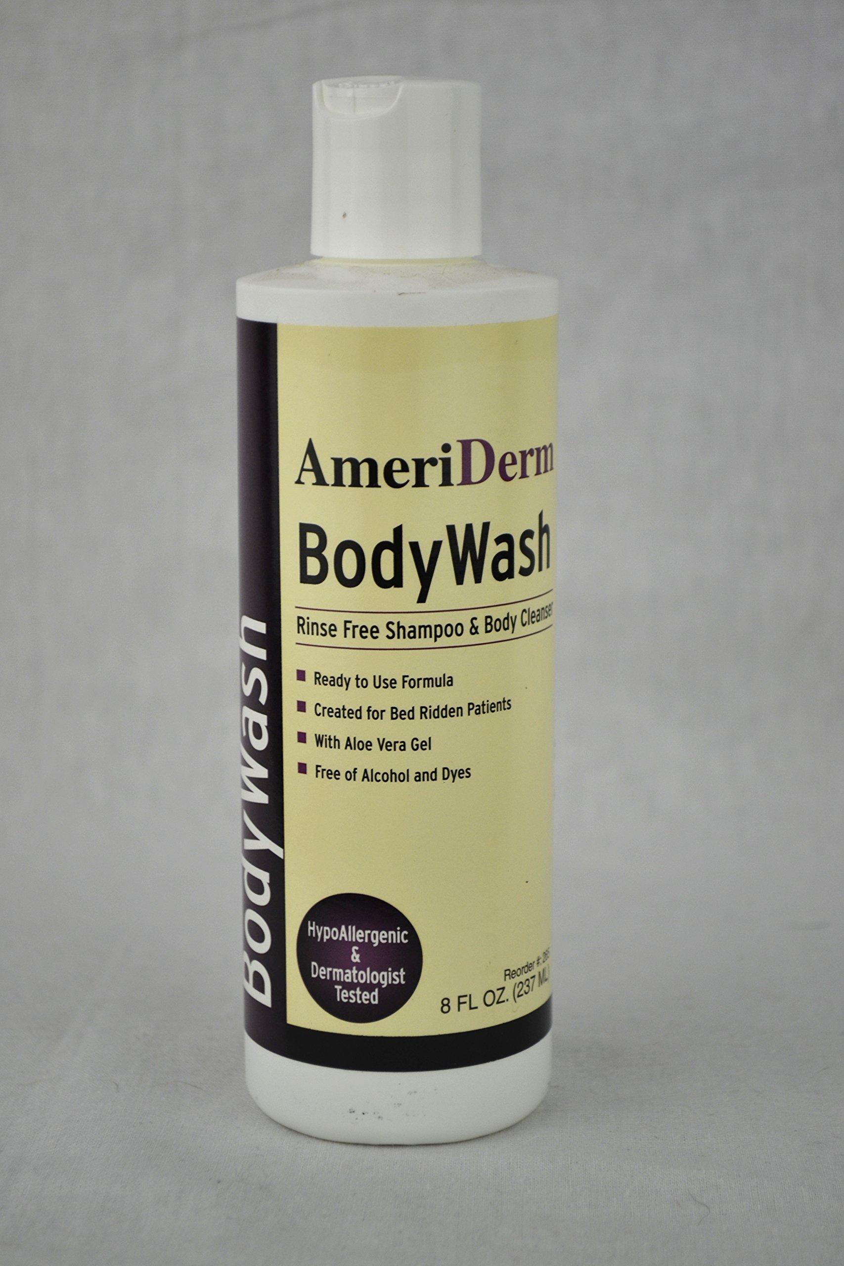 Rinse-Free Body Wash 8oz Case of 48 by AMERIDERM LABORATORIES