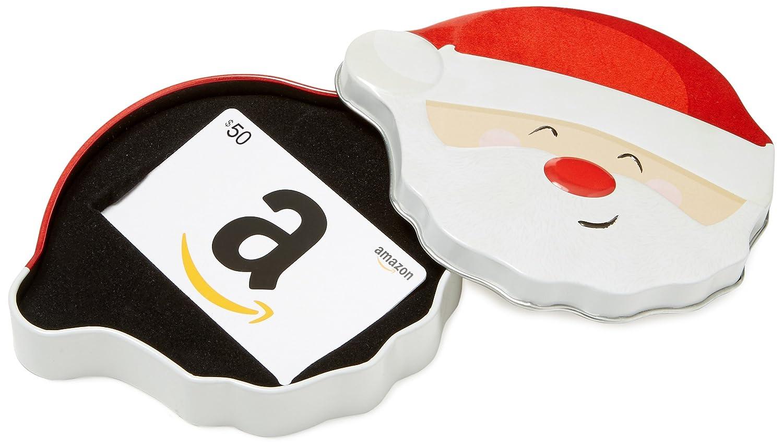 Amazon.com Gift Card in a Santa Smile Tin