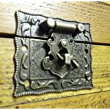 VERROUILLAGE DE VERROU DE clapet de fermeture à loquet ornate c/w C035 vis Finition bronze
