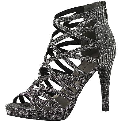 Tamaris 1-1-28014-20, Spartiates Femme - Noir - Black Glam, 40 EU