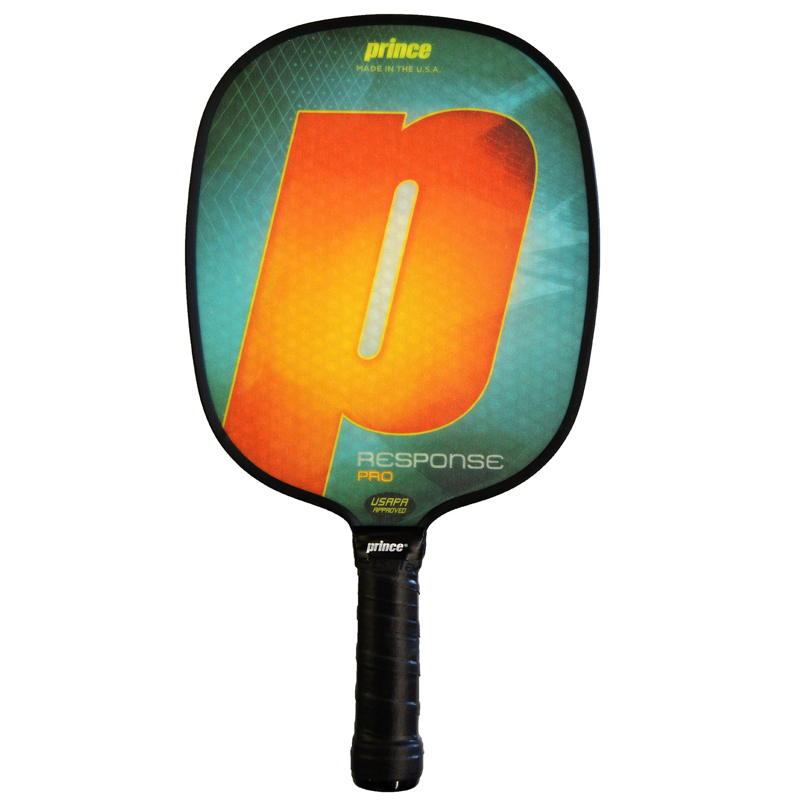 Prince Response Pro Pickleball Paddle | Orange | 4 1/8'' Small Grip | Light Weight