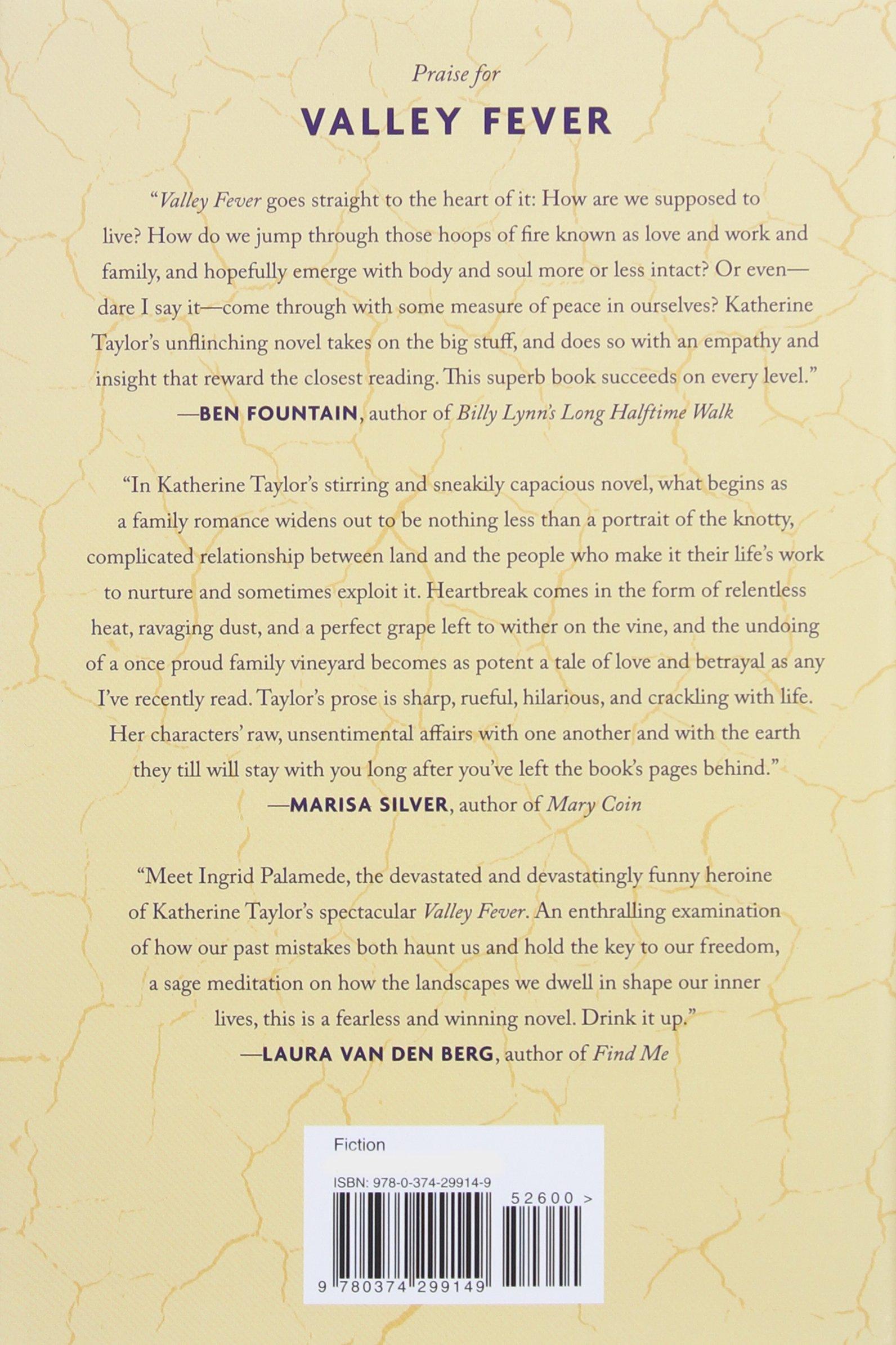Amazon: Valley Fever: A Novel (9780374299149): Katherine Taylor: Books