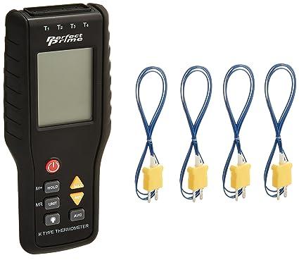 Perfect-Prime TC41, Termometro digital de 4 canales de tipo K Sensor de termopar