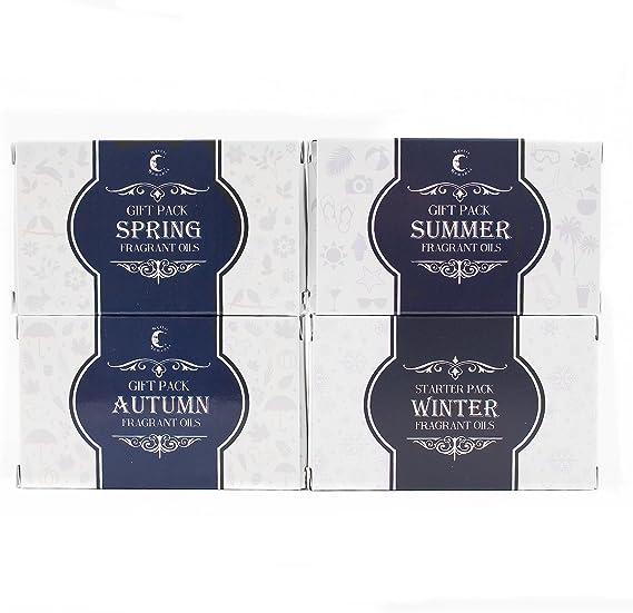 Mystic momentos | aceite de fragancia – aceites – paquetes de cuatro estaciones: Amazon.es: Hogar