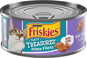 Purina Friskies Gravy Wet Cat Food, Tasty Treasures With Turkey & Liver - (24) 5.5 oz. Cans