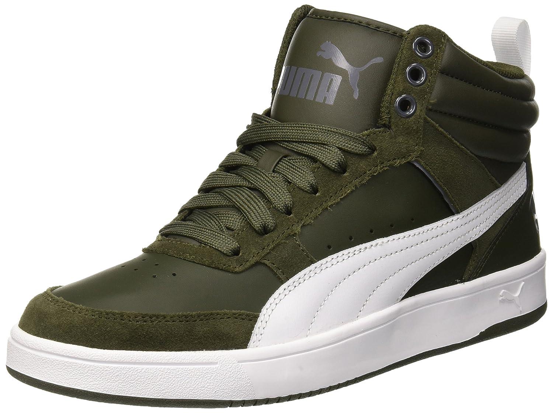 Puma Unisex-Erwachsene Rebound Street V2 Hohe Sneaker  46 EU|Grau (Forest Night-puma White-iron Gate 09)