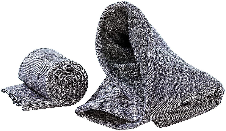 PEARL Multifunktionstuch mit Fleece-Teil: Schal, Mütze, Stirnband uvm.