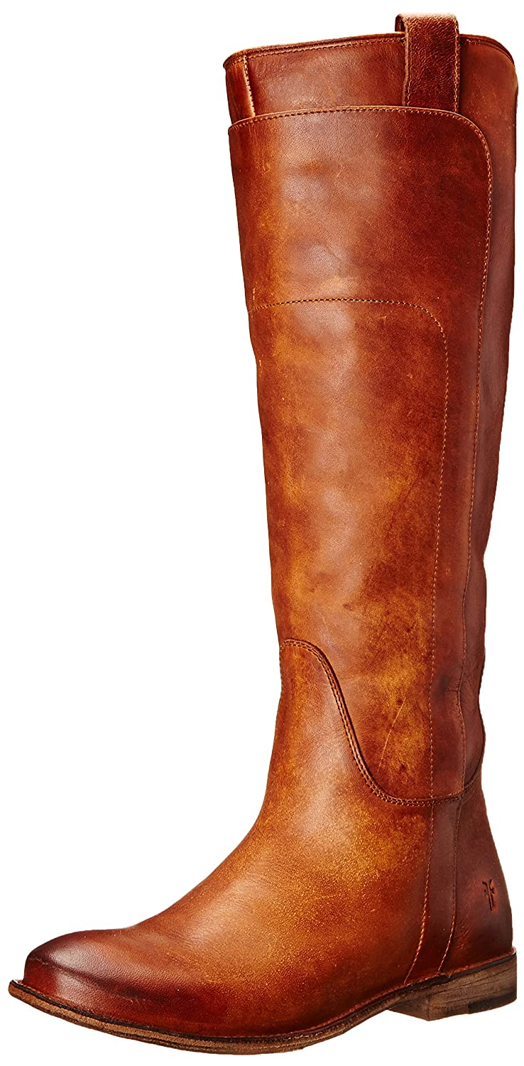 Cognac Frye Women's Paige Tall-APU Riding Boot