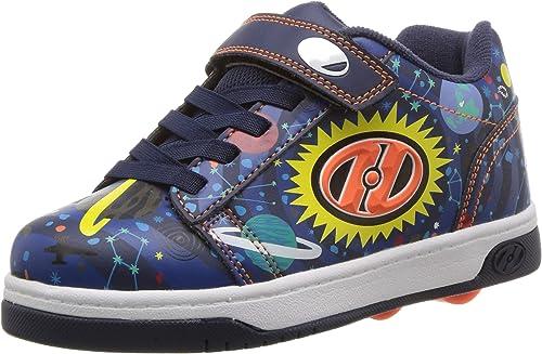 Heelys Dual Up Skate Shoe Black//PINK 2 M US Little Kid Girls Shoes