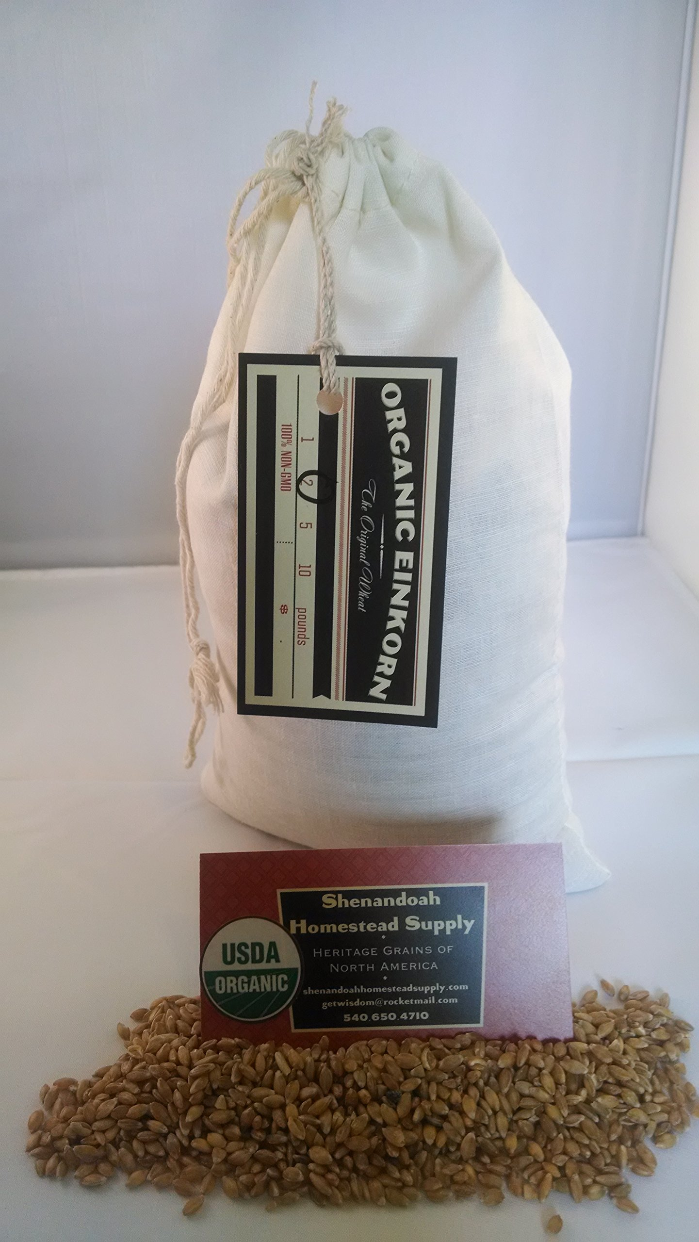 Organic Whole Grain Einkorn Flour, Fresh Stone-Ground & USA Grown, Heritage Grains of Shenandoah- great for gluten issues (2 pounds)