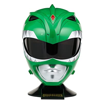 Power Rangers Mighty Morphin Legacy Ranger Helmet, Green: Toys & Games