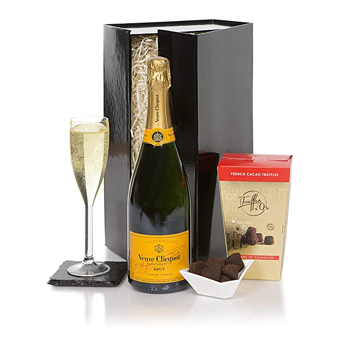 Image Unavailable. Image not available for. Colour: Veuve Clicquot Champagne & Chocolate Truffles Gift ...