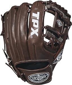 """Louisville Slugger 2018 Tpx Infield Baseball Glove - Right Hand Throw Dark Brown/White, 11.5"""""""