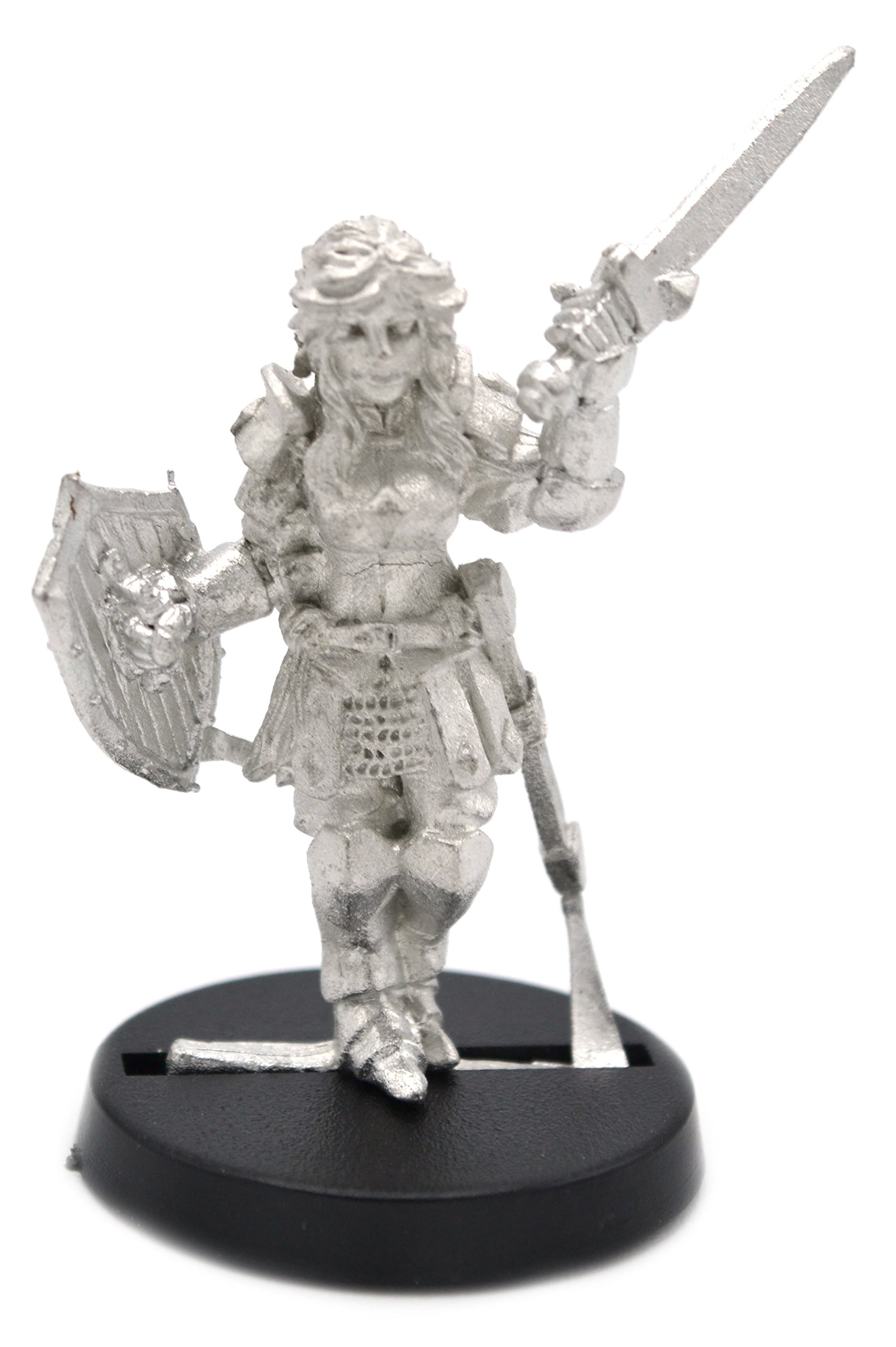 Stonehaven Human Knight Female Miniature Figure (for 28mm Scale Table Top War Games) - Made in US